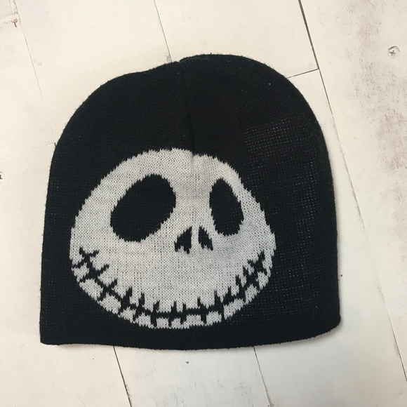 aff0ee08b88ef Nightmare Before Christmas Jack Skellington Beanie.  M 5b686525aa5719208ecc2ea3